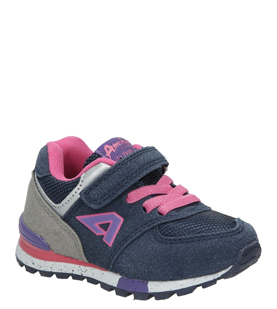 Granatowe buty sportowe na rzep American K15110G-1 producent American