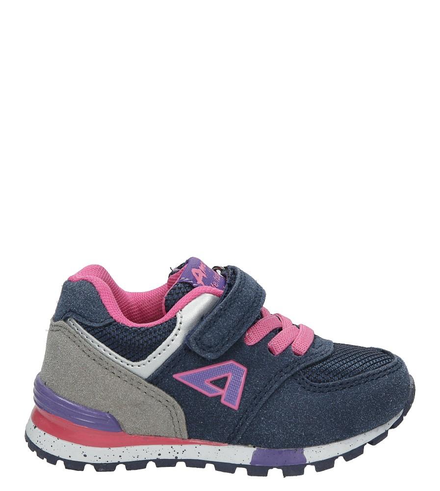 Granatowe buty sportowe na rzep American K15110G-1 model K15110G-1