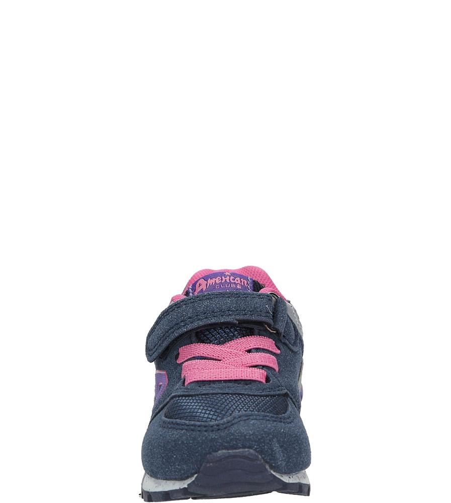 Granatowe buty sportowe na rzep American K15110G-1 sezon Całoroczny