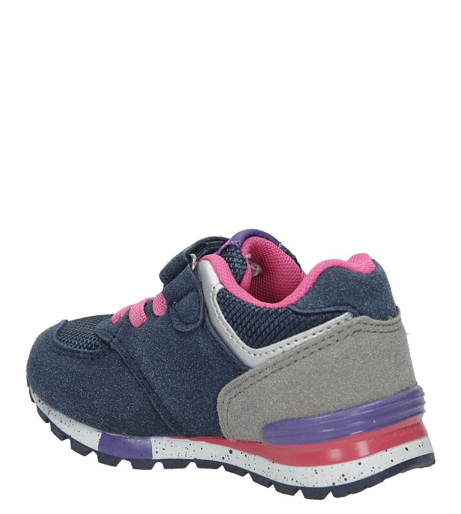 Granatowe buty sportowe na rzep American K15110G-1 kolor granatowy