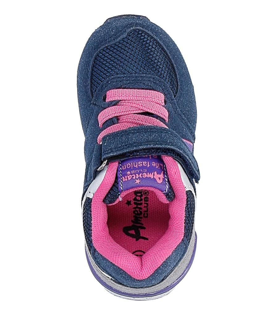 Granatowe buty sportowe na rzep American K15110G-1 wysokosc_platformy 0.5 cm
