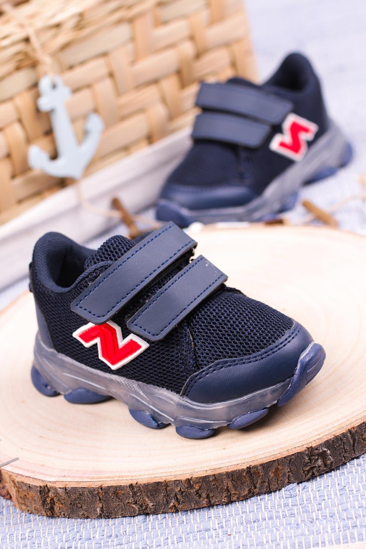 Granatowe buty sportowe na rzep Casu 204/14M producent Casu