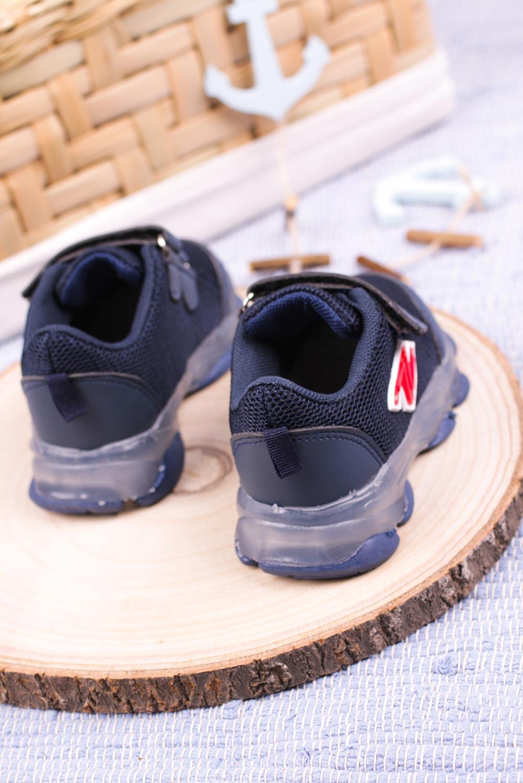 Granatowe buty sportowe na rzep Casu 204/14M granatowy