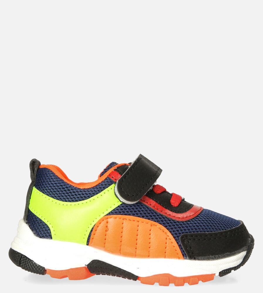 Granatowe buty sportowe na rzep Casu 204/15M granatowy
