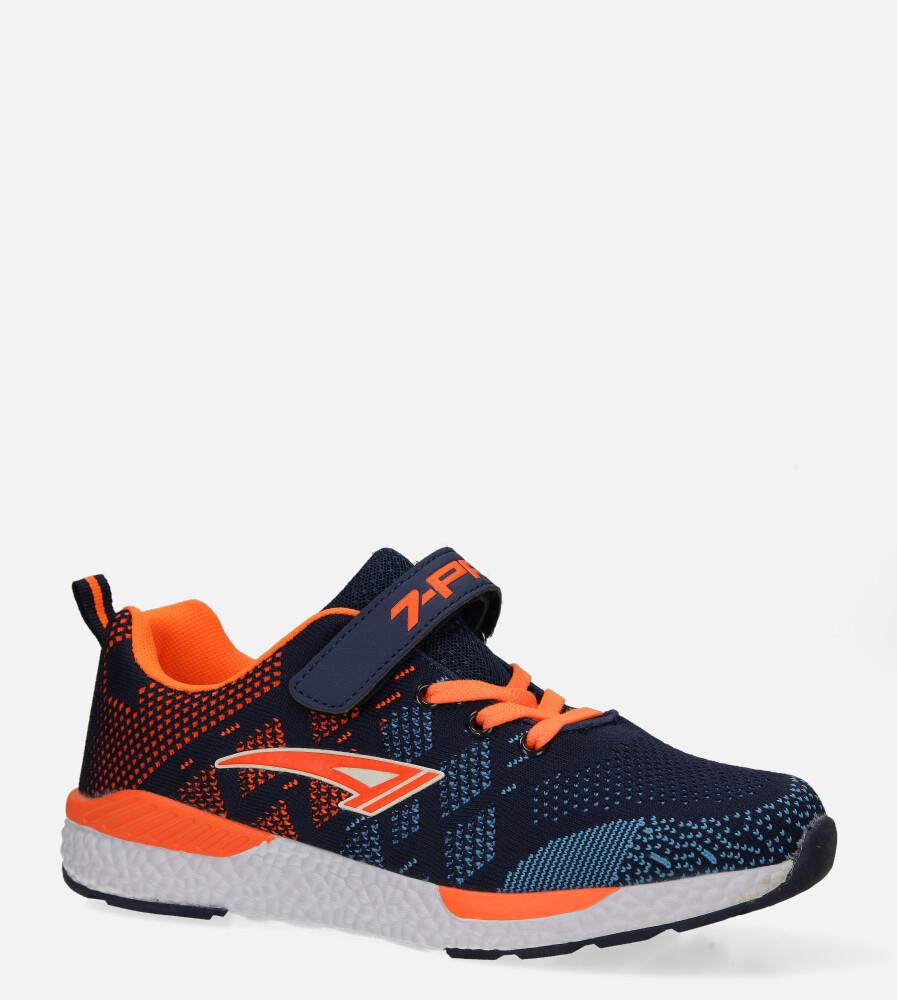 Granatowe buty sportowe na rzep Casu 20P8/M/2 producent Casu