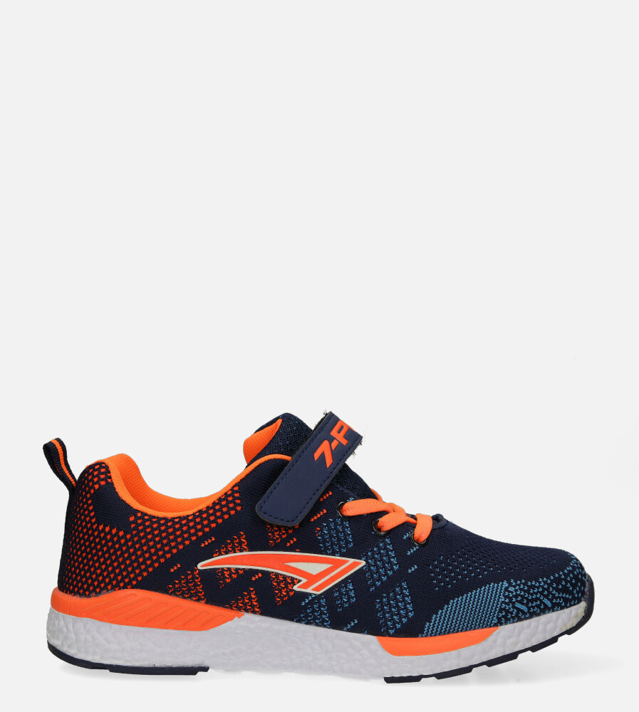 Granatowe buty sportowe na rzep Casu 20P8/M/2 model 20P8/M/609