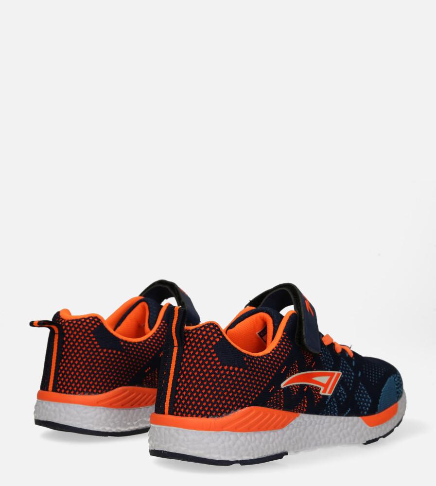 Granatowe buty sportowe na rzep Casu 20P8/M/2 wysokosc_obcasa 3 cm
