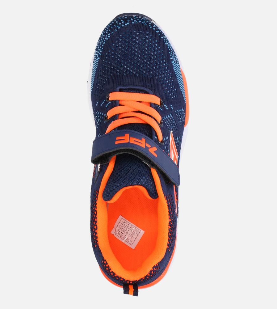 Granatowe buty sportowe na rzep Casu 20P8/M/2 wysokosc_platformy 1 cm