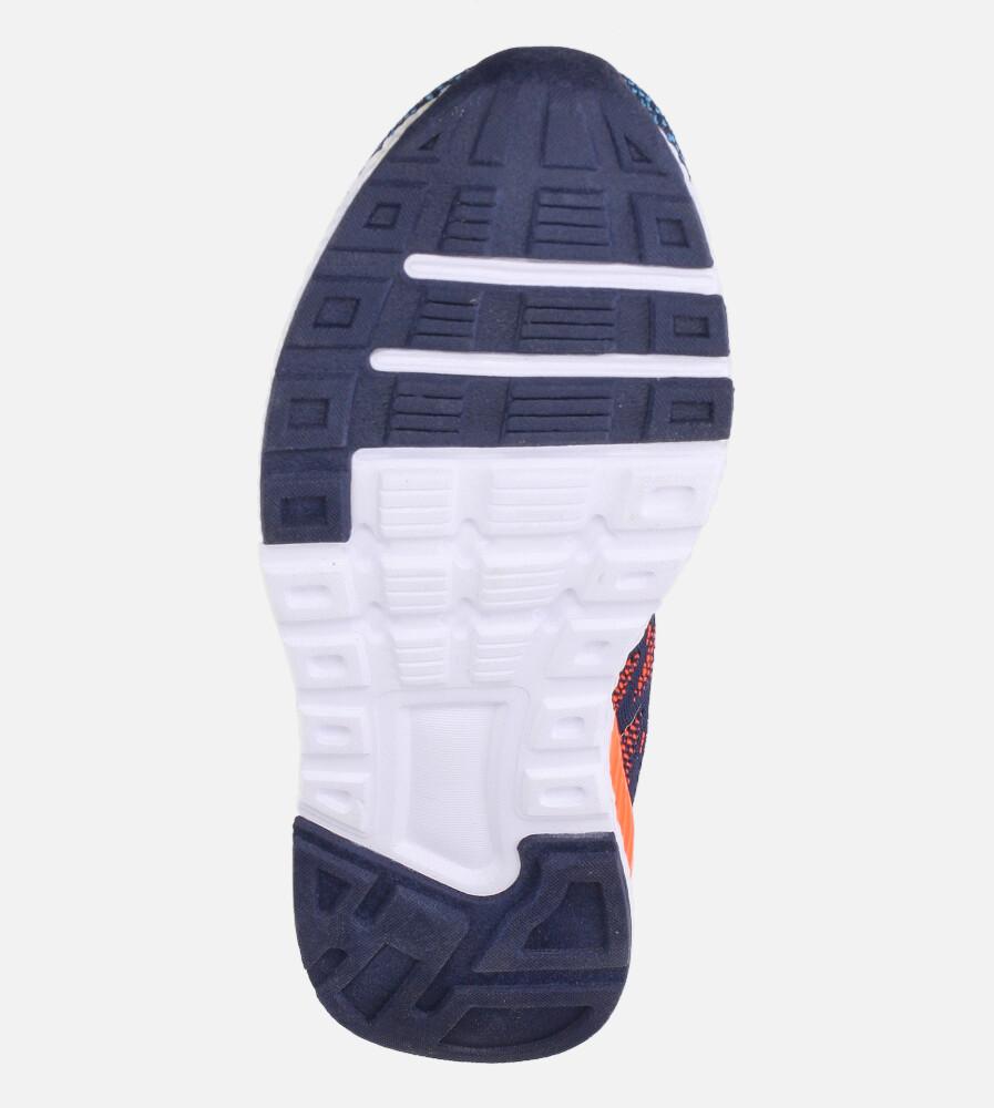 Granatowe buty sportowe na rzep Casu 20P8/M/2 wys_calkowita_buta 11 cm