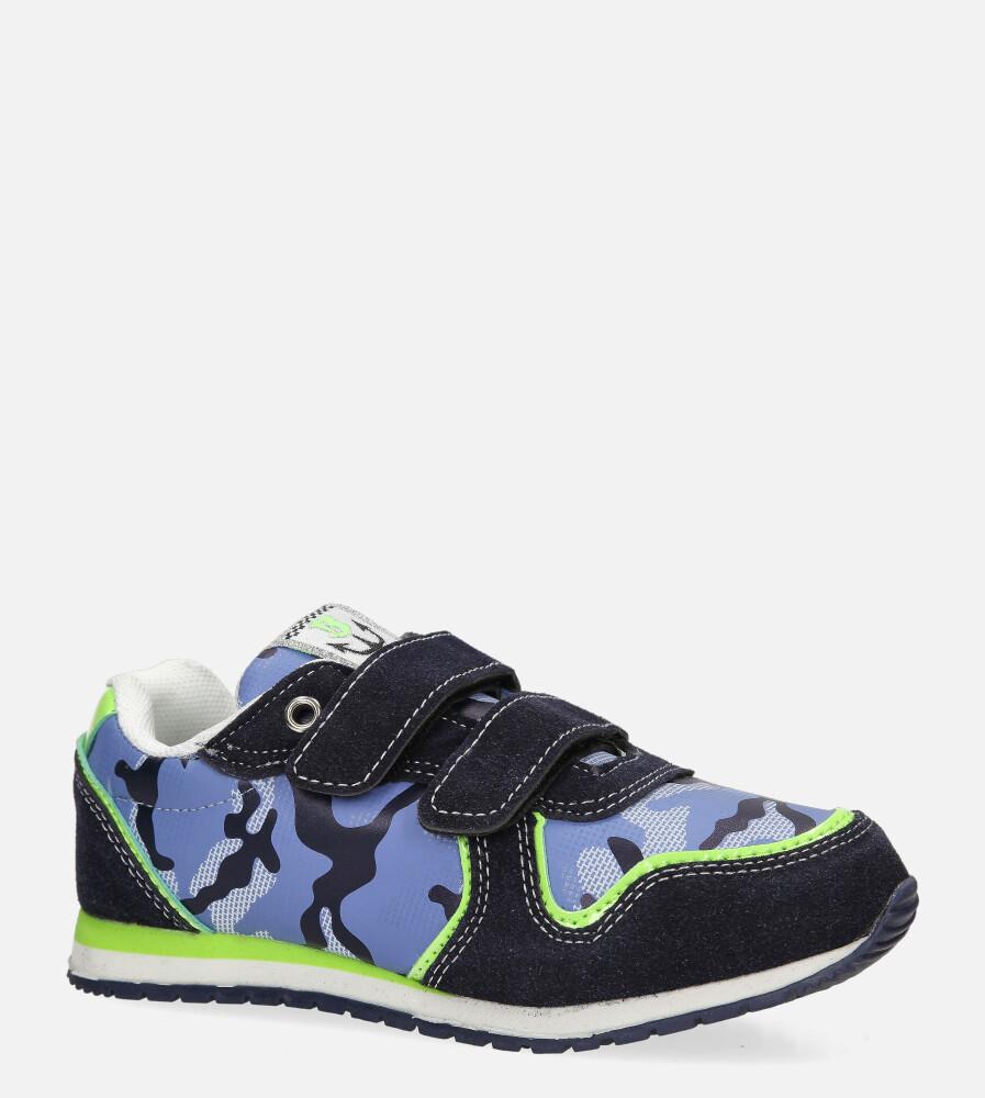 Granatowe buty sportowe na rzep Casu 20T2/M