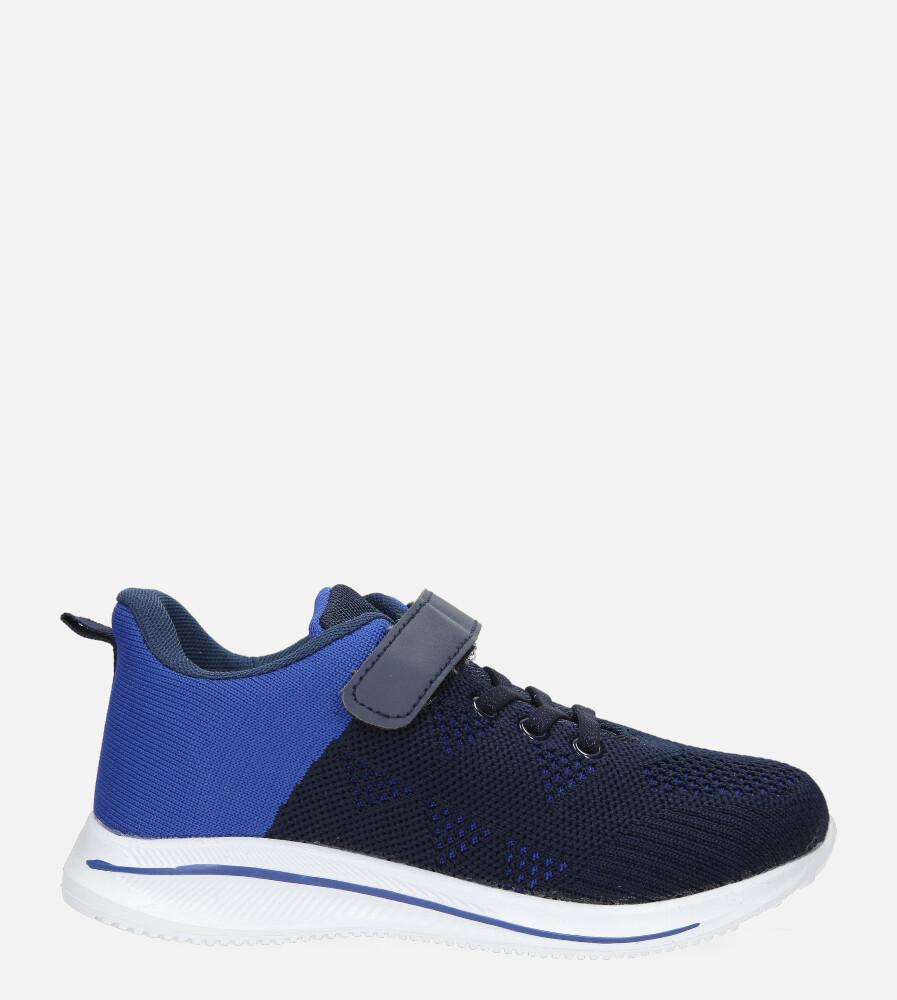 Granatowe buty sportowe na rzep Casu 920A