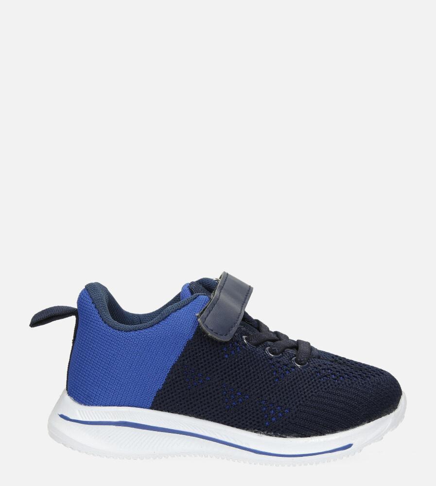 Granatowe buty sportowe na rzep Casu 920B granatowy