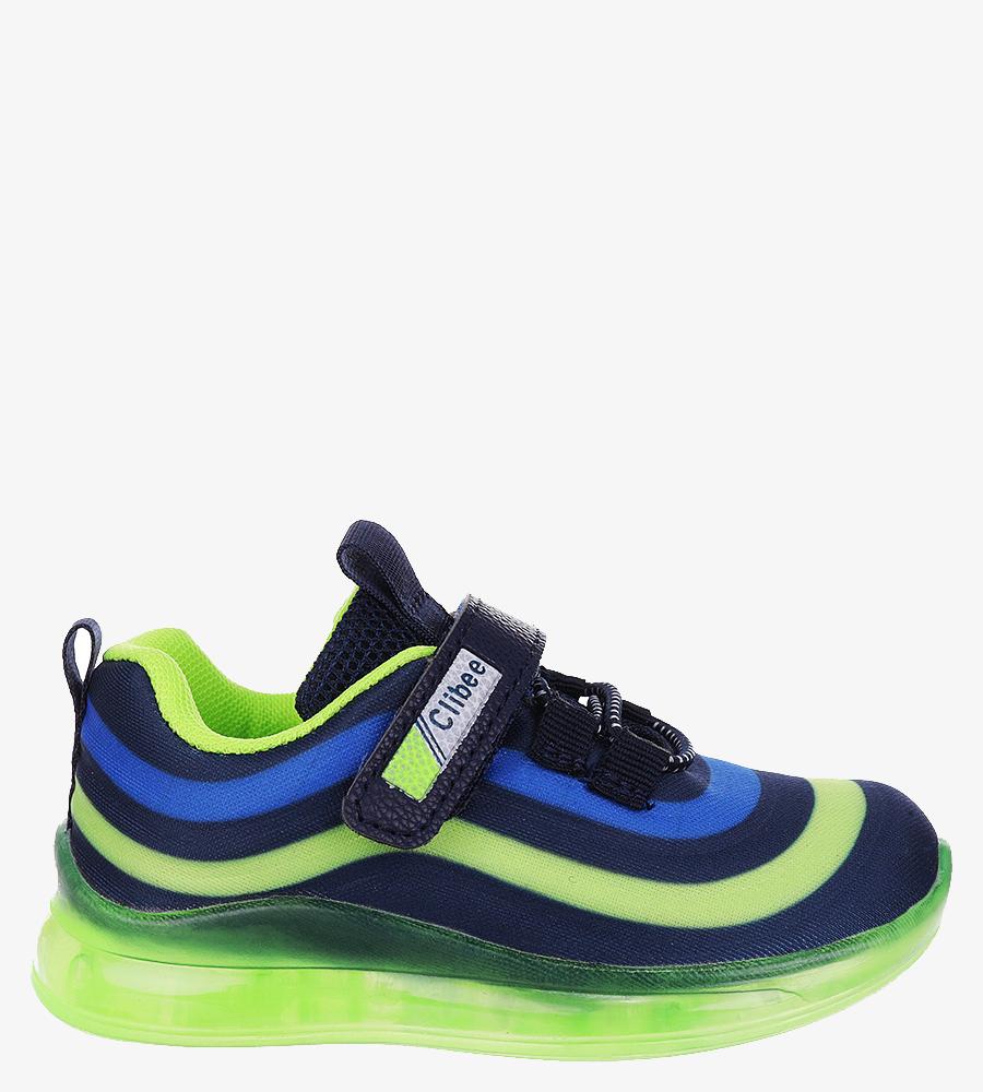 Granatowe buty sportowe na rzep Casu F-920