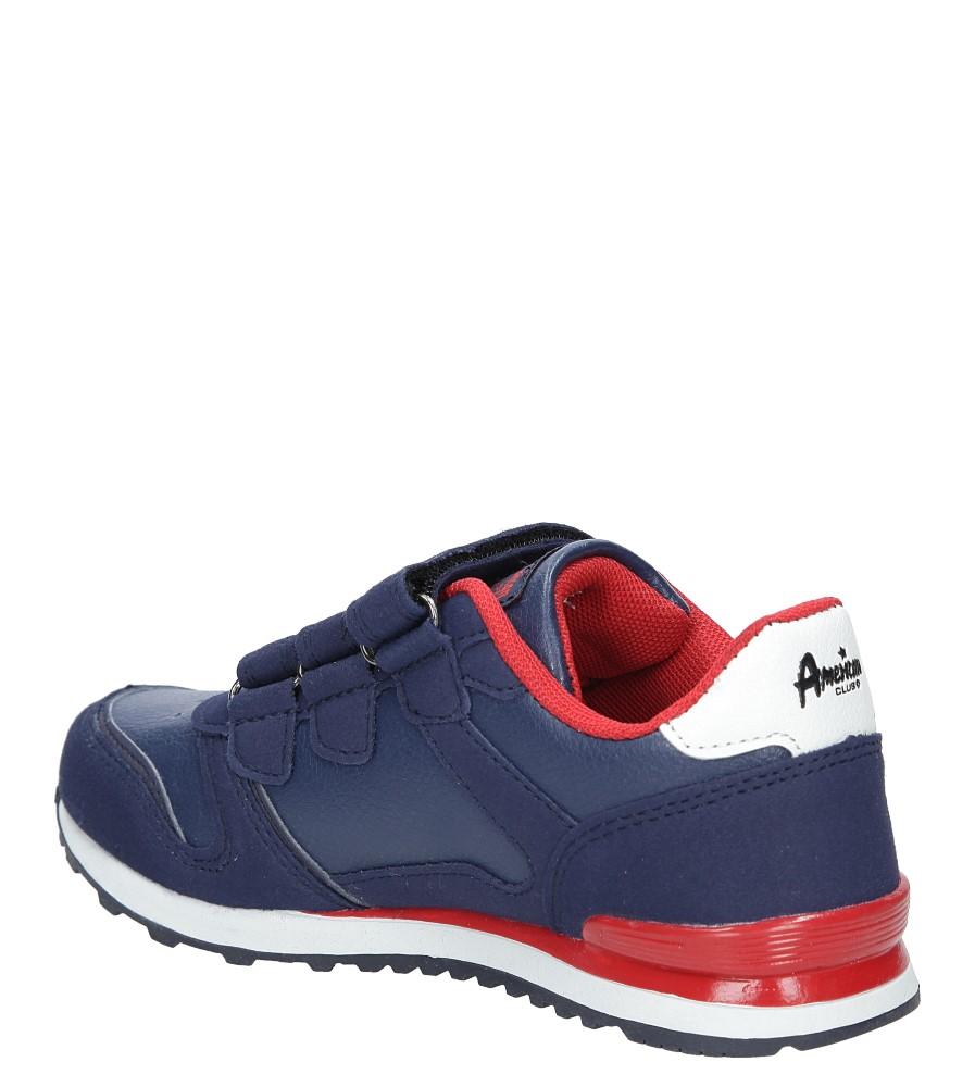 Granatowe buty sportowe na rzepy American 13 kolor granatowy