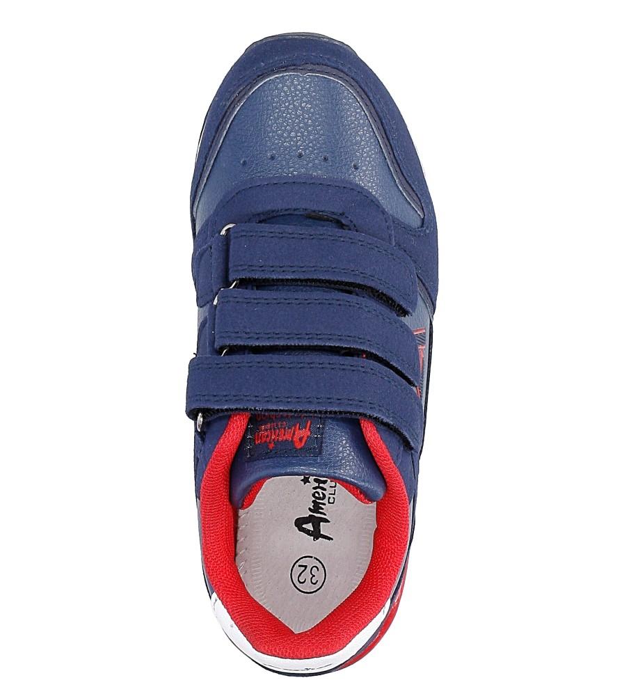 Granatowe buty sportowe na rzepy American 13 wysokosc_platformy 1 cm