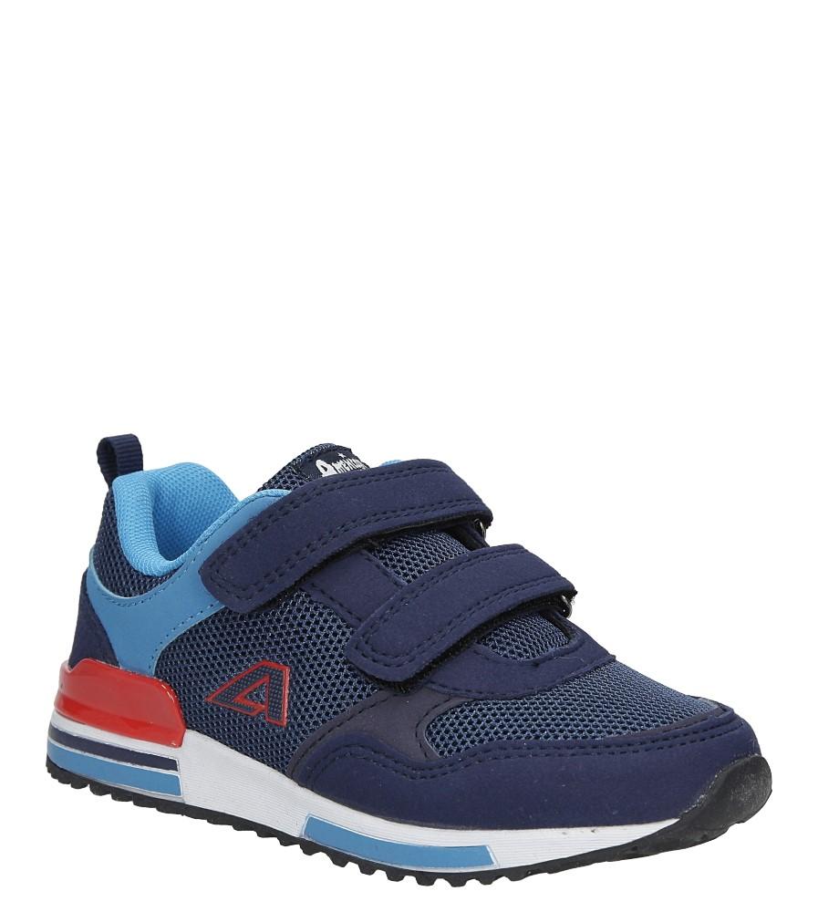Granatowe buty sportowe na rzepy  American 6