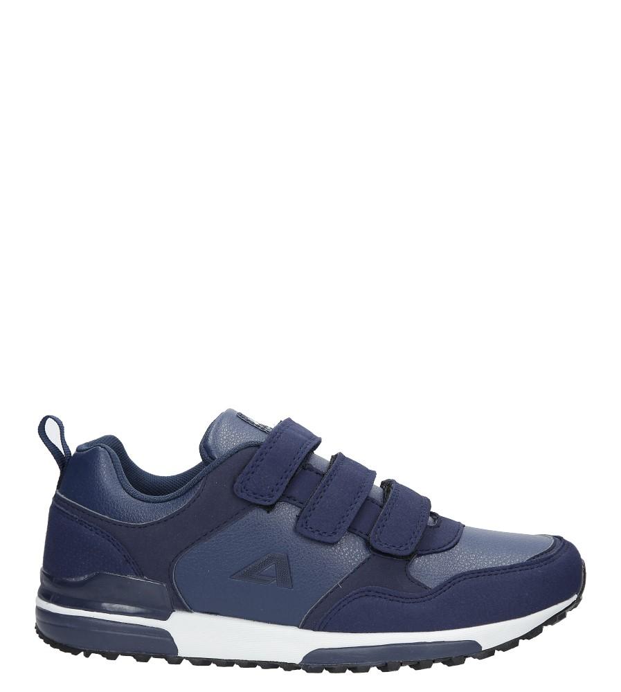 Granatowe buty sportowe na rzepy American 7-1