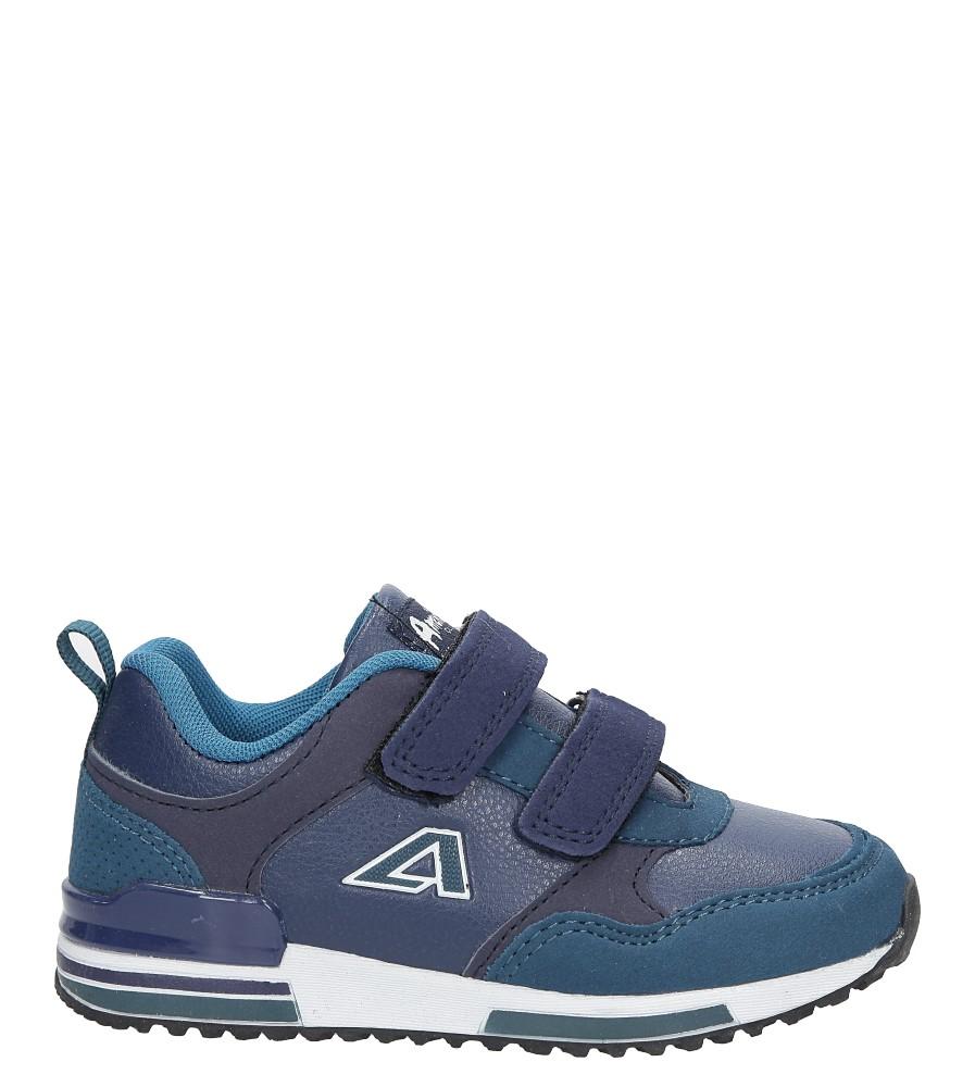 Granatowe buty sportowe na rzepy American 8