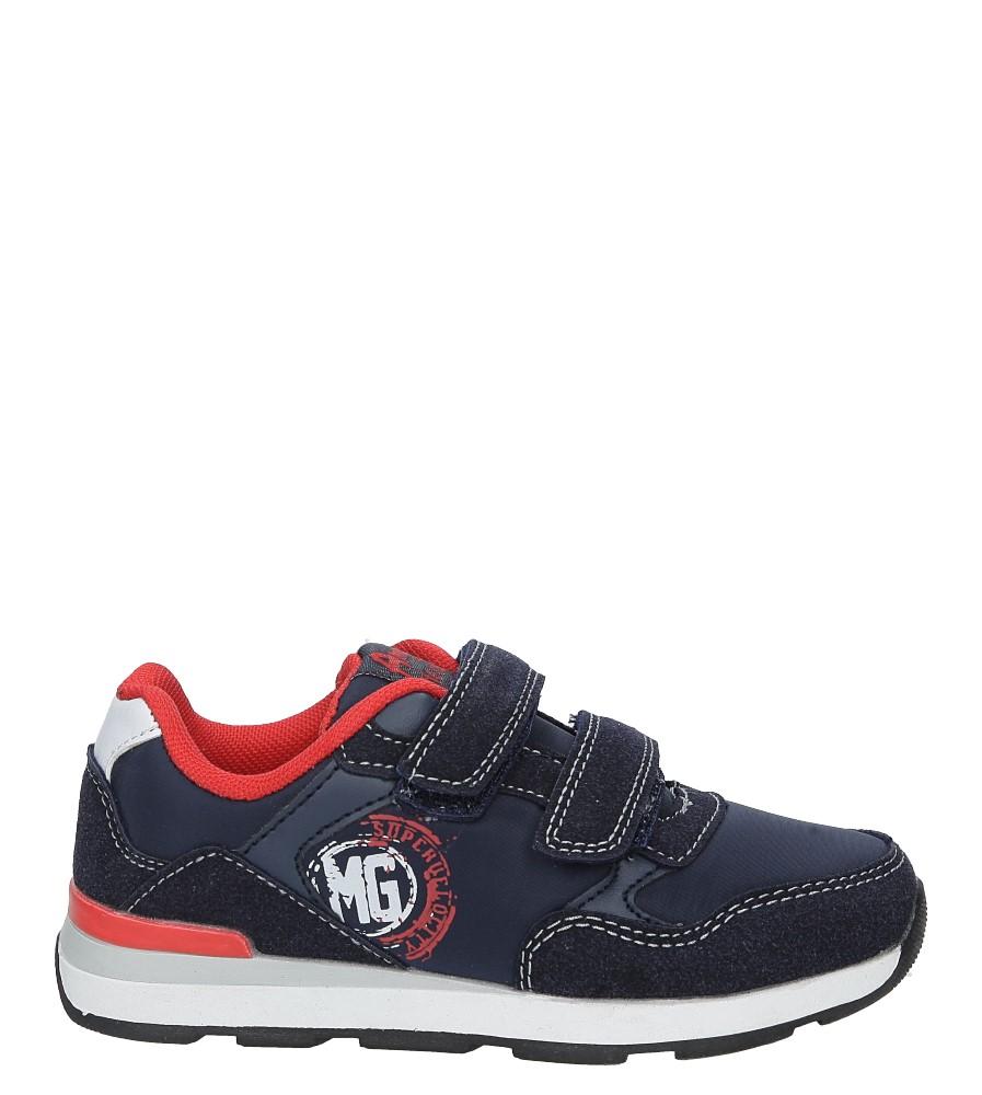 Granatowe buty sportowe na rzepy  American BS-C2909