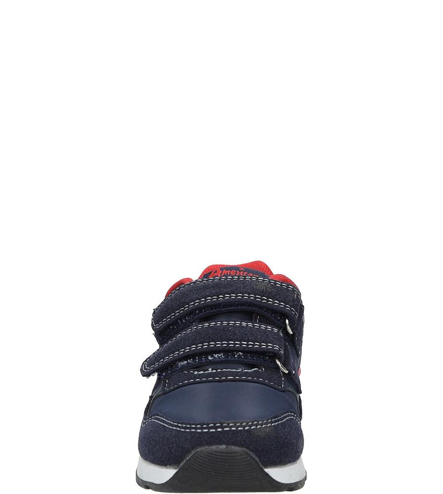 840864644b425f ... Granatowe buty sportowe na rzepy American BS-C2909 sezon Całoroczny ...