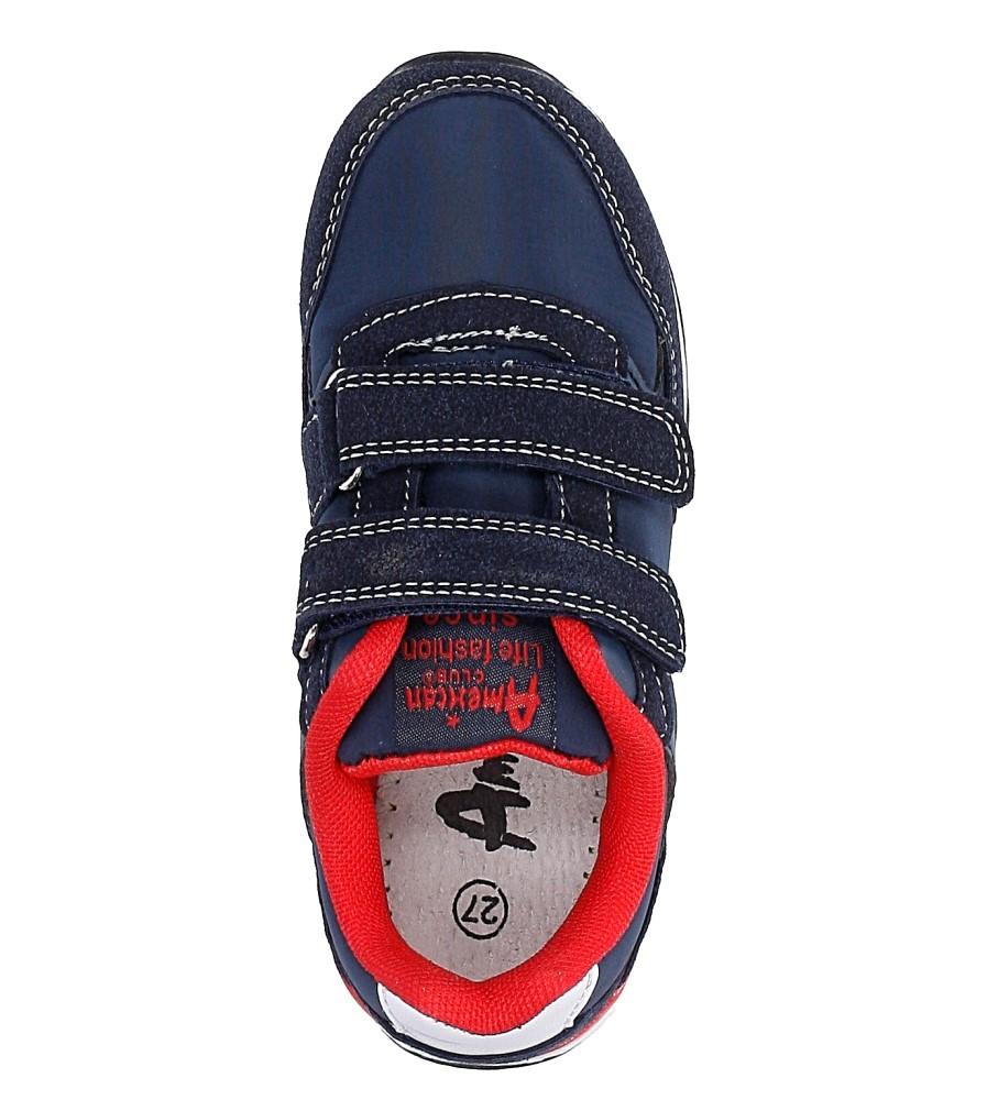 e0331a135e9ae5 ... Granatowe buty sportowe na rzepy American BS-C2909 wysokosc_platformy 1  cm. » «