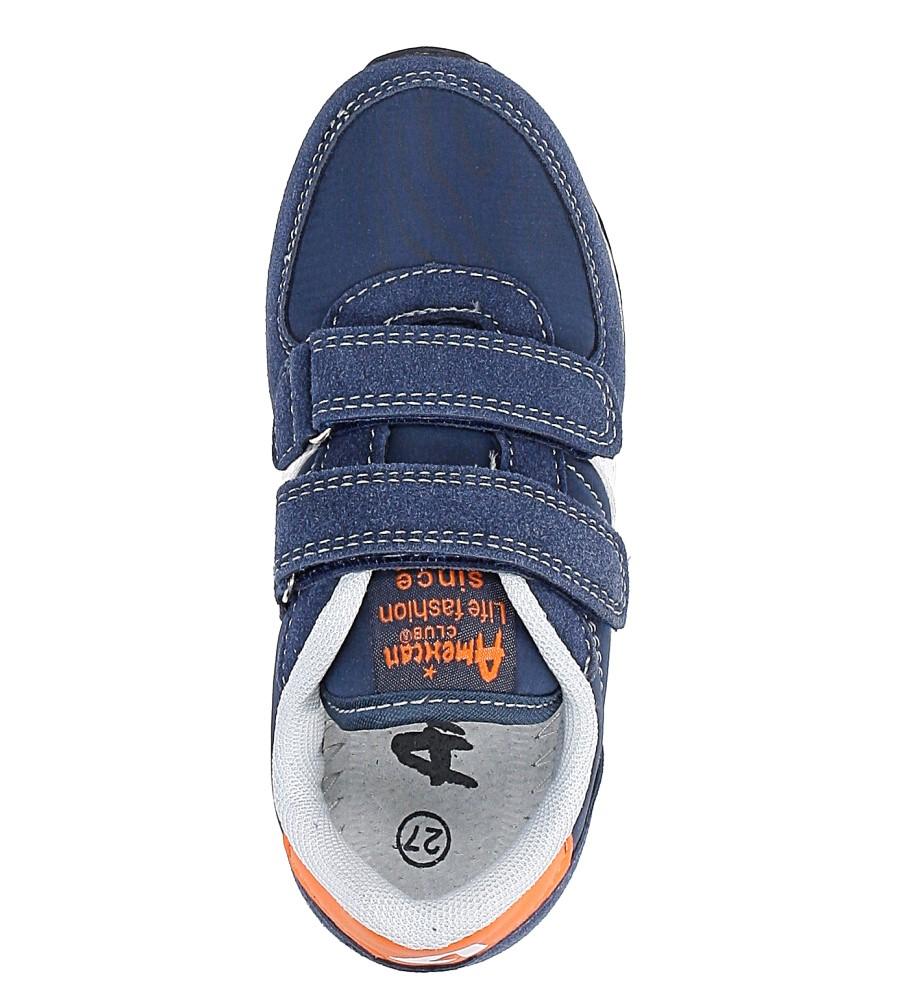 25d6f9b6cc51d6 ... Granatowe buty sportowe na rzepy American BS-C2922 wysokosc_platformy 1  cm. » «