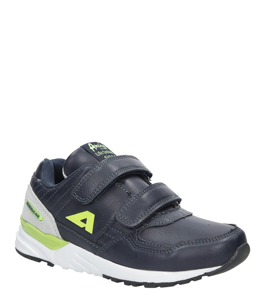 Granatowe buty sportowe na rzepy  American C3759 producent American