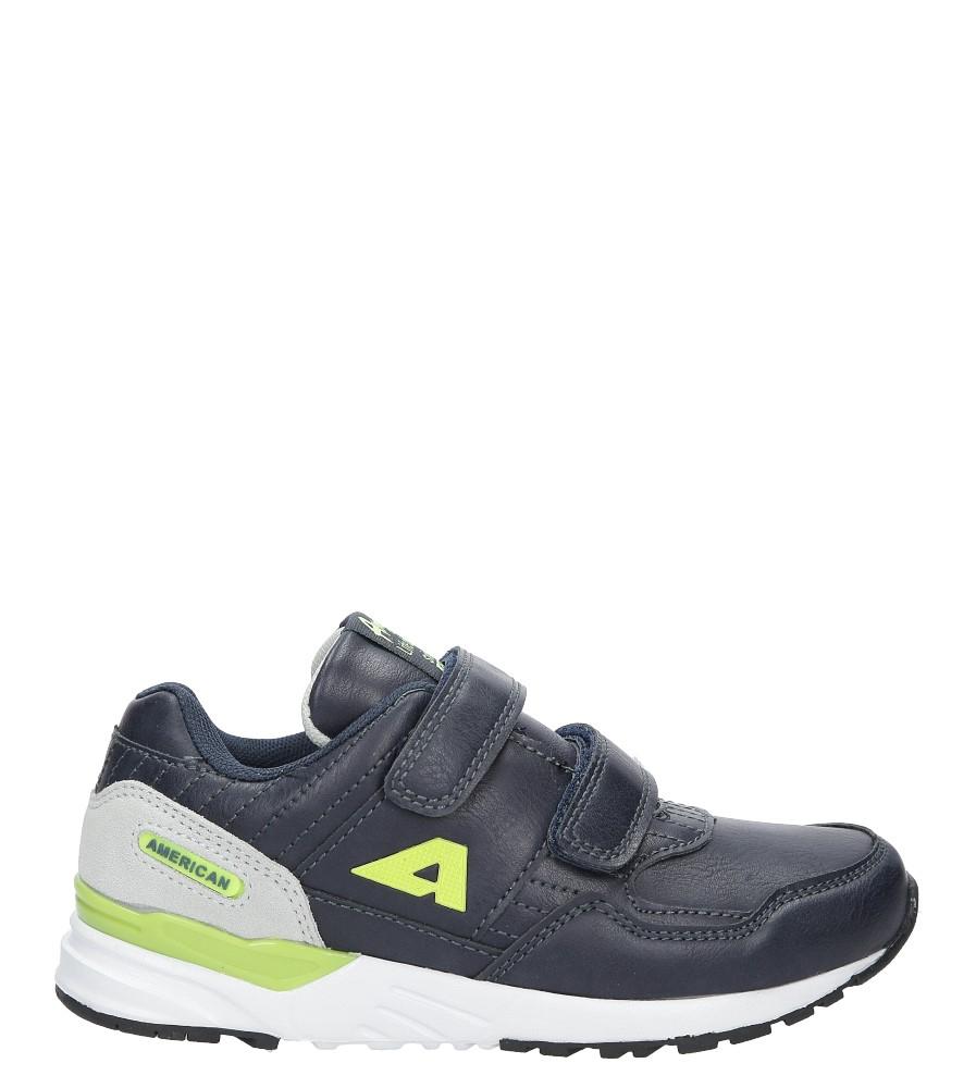 Granatowe buty sportowe na rzepy  American C3759 granatowy