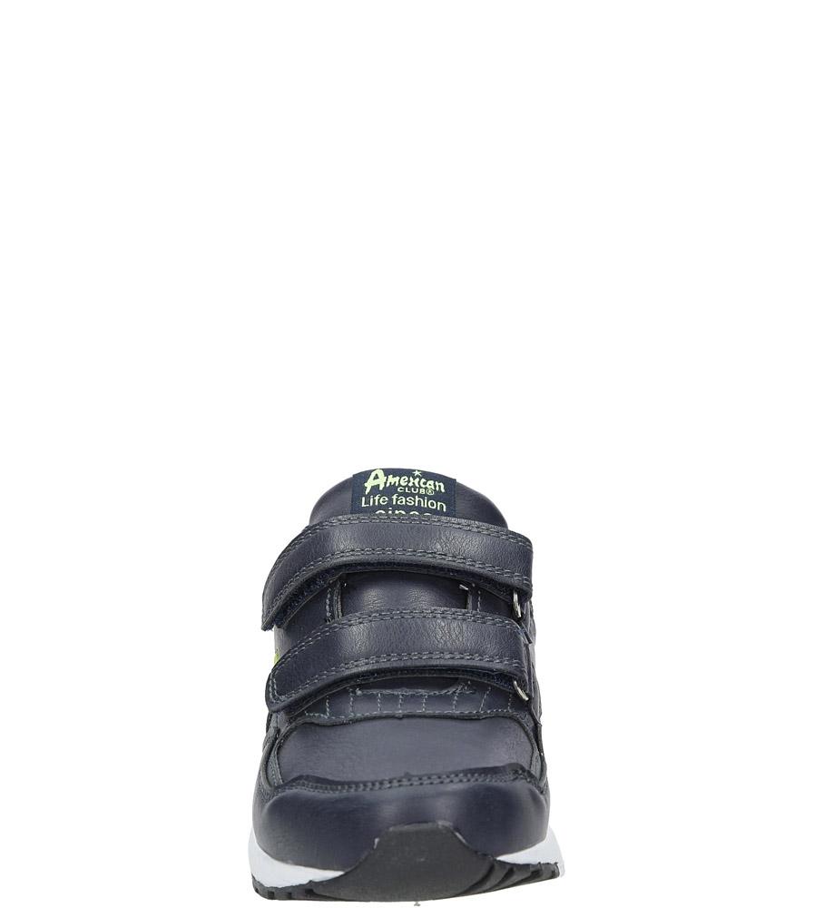 Granatowe buty sportowe na rzepy  American C3759 sezon Całoroczny
