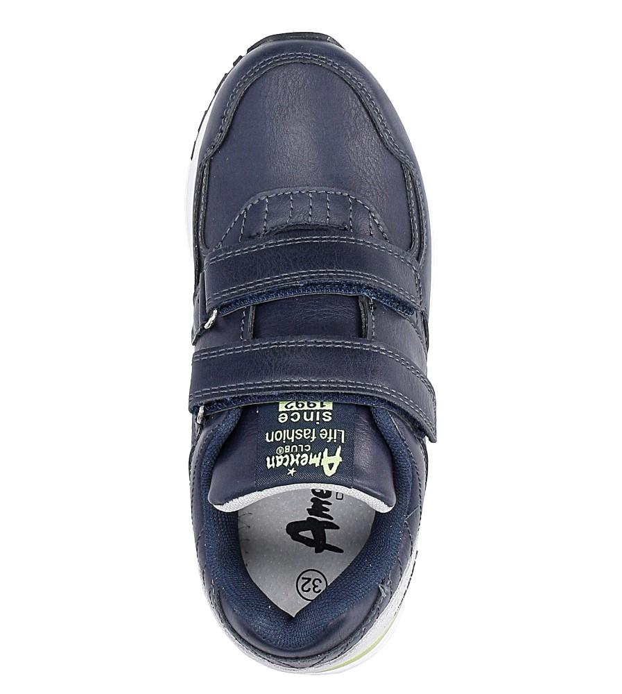 Granatowe buty sportowe na rzepy  American C3759 wysokosc_platformy 1 cm
