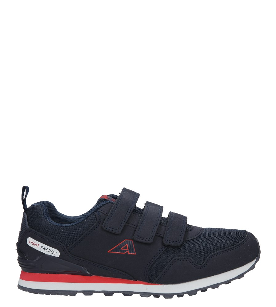 Granatowe buty sportowe na rzepy American F6361