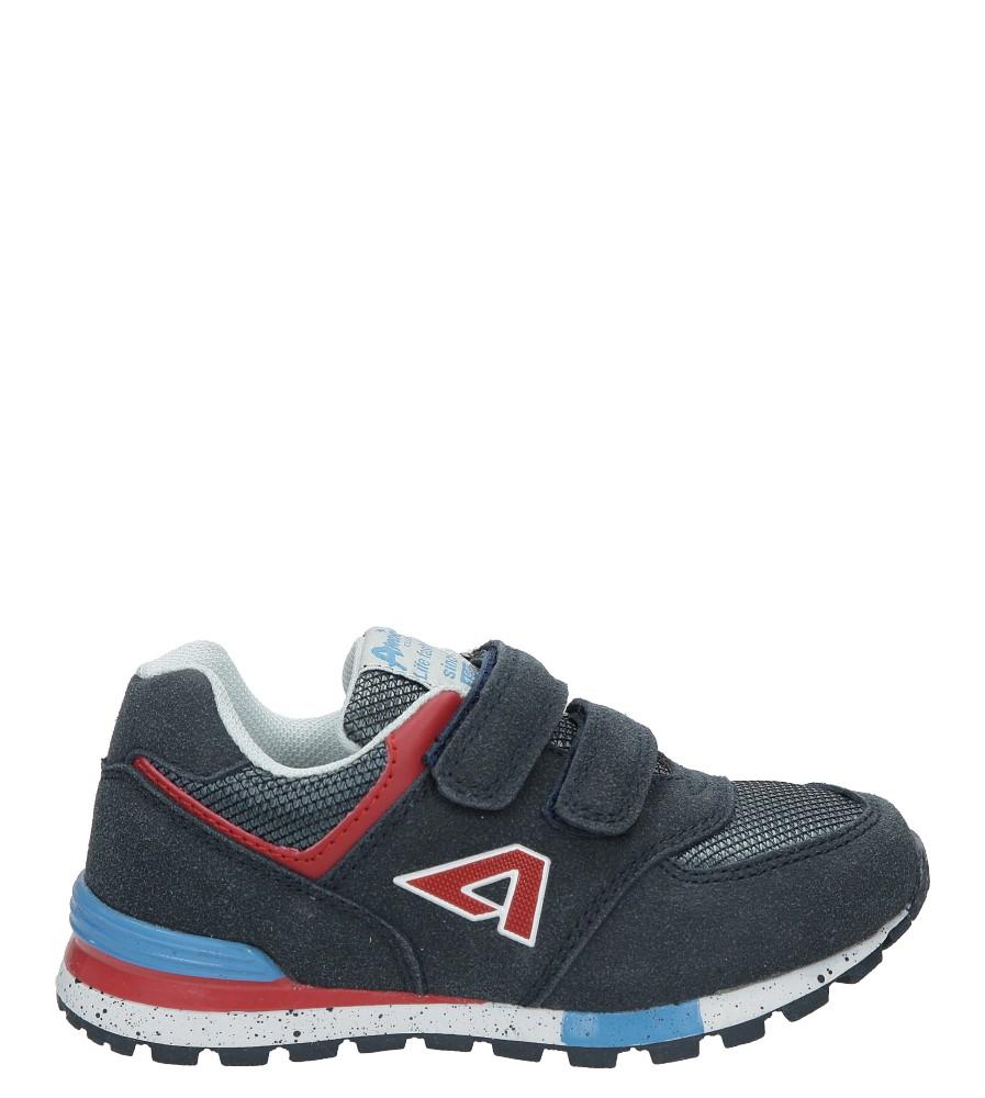 Granatowe buty sportowe na rzepy American K15110G