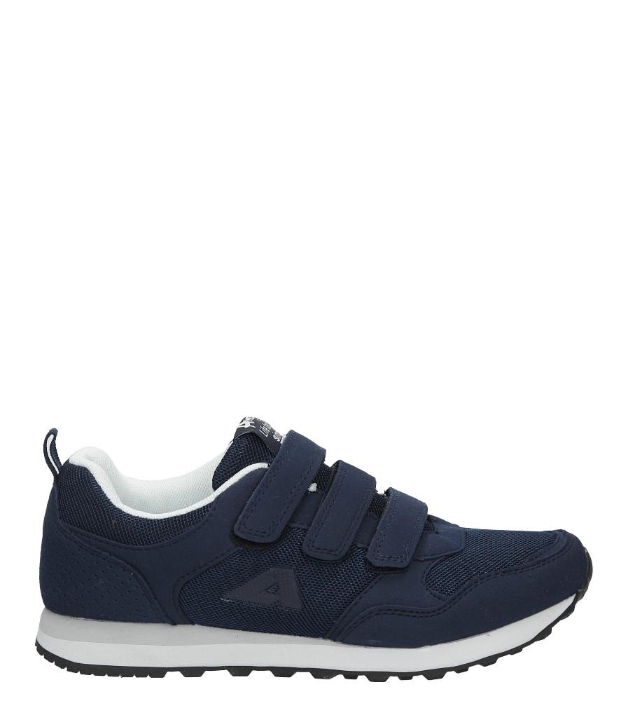 Granatowe buty sportowe na rzepy American WT1754-A