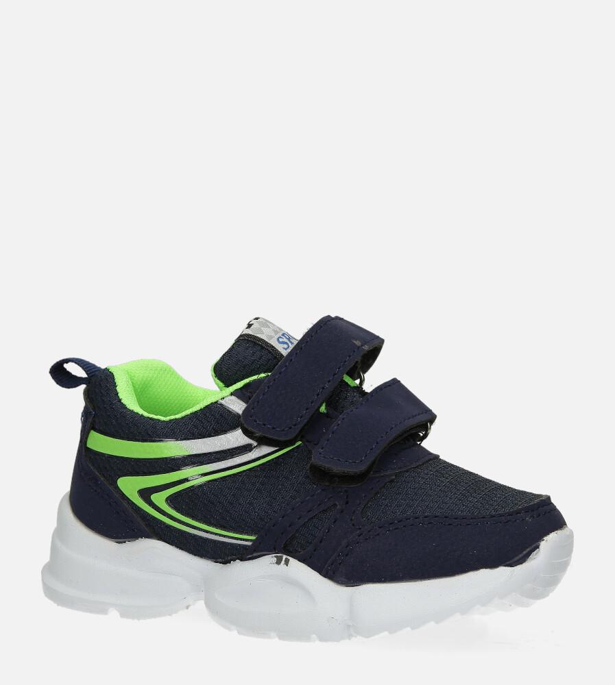 Granatowe buty sportowe na rzepy Casu 002 granatowy