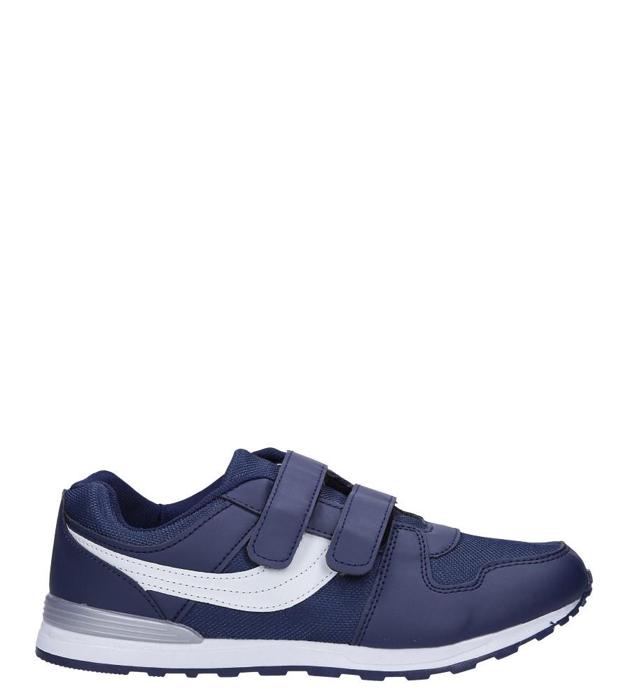 Granatowe buty sportowe na rzepy Casu 608B-3
