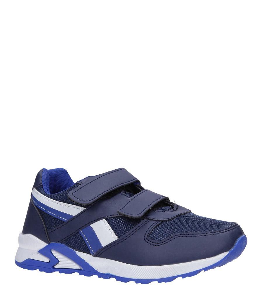 Granatowe buty sportowe na rzepy Casu 723C