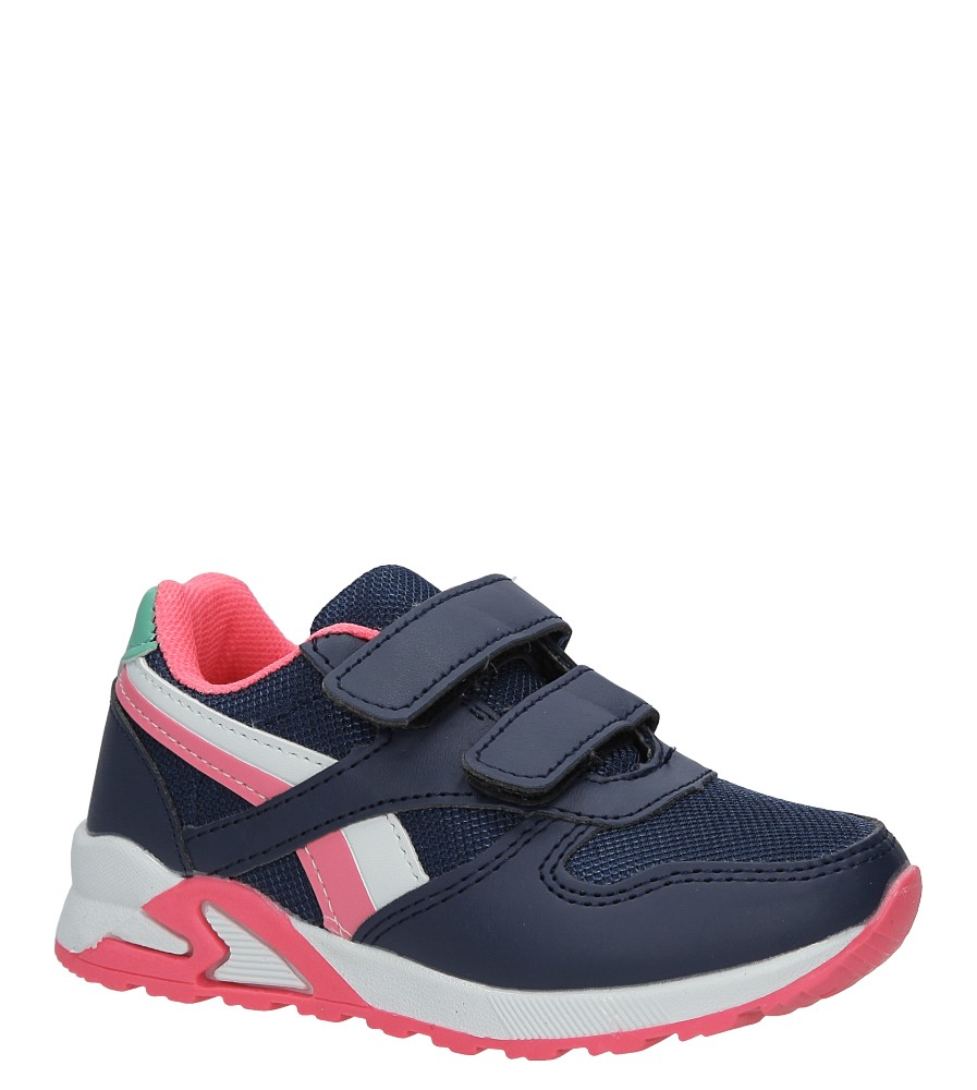 Granatowe buty sportowe na rzepy Casu 723D-1