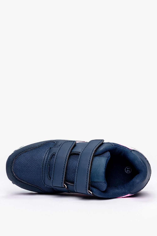 Granatowe buty sportowe na rzepy Casu C912