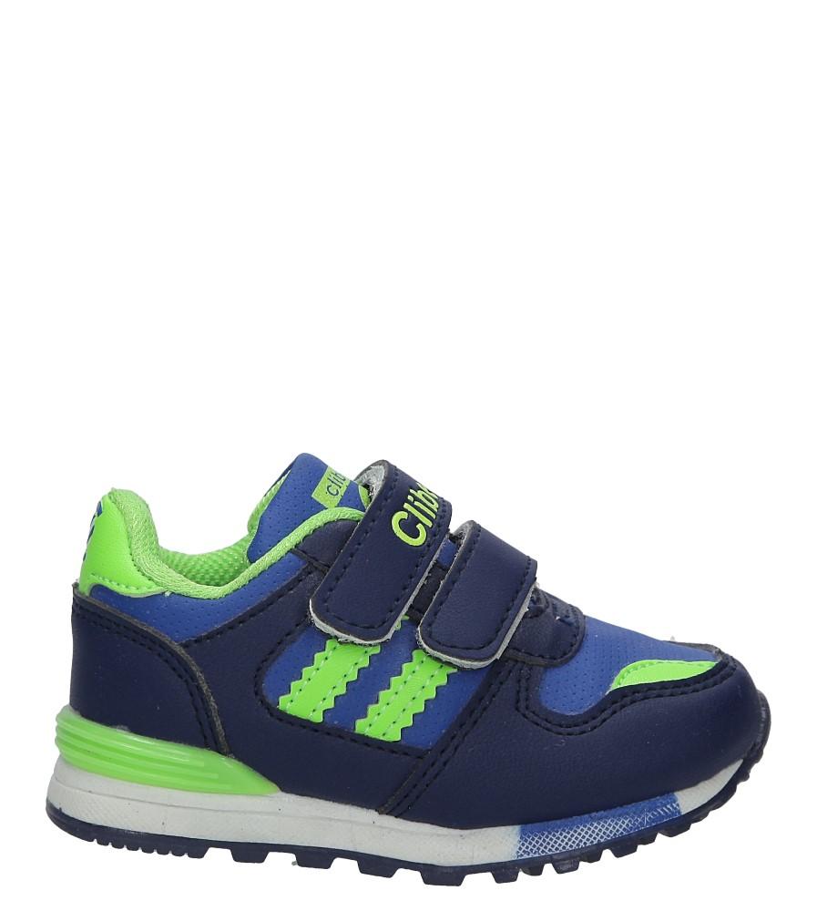 Granatowe buty sportowe na rzepy Casu F-627