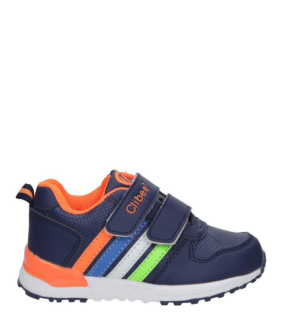 Granatowe buty sportowe na rzepy Casu F-661