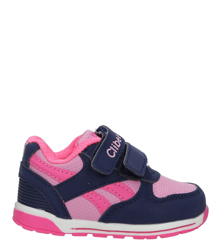 Granatowe buty sportowe na rzepy Casu F-682