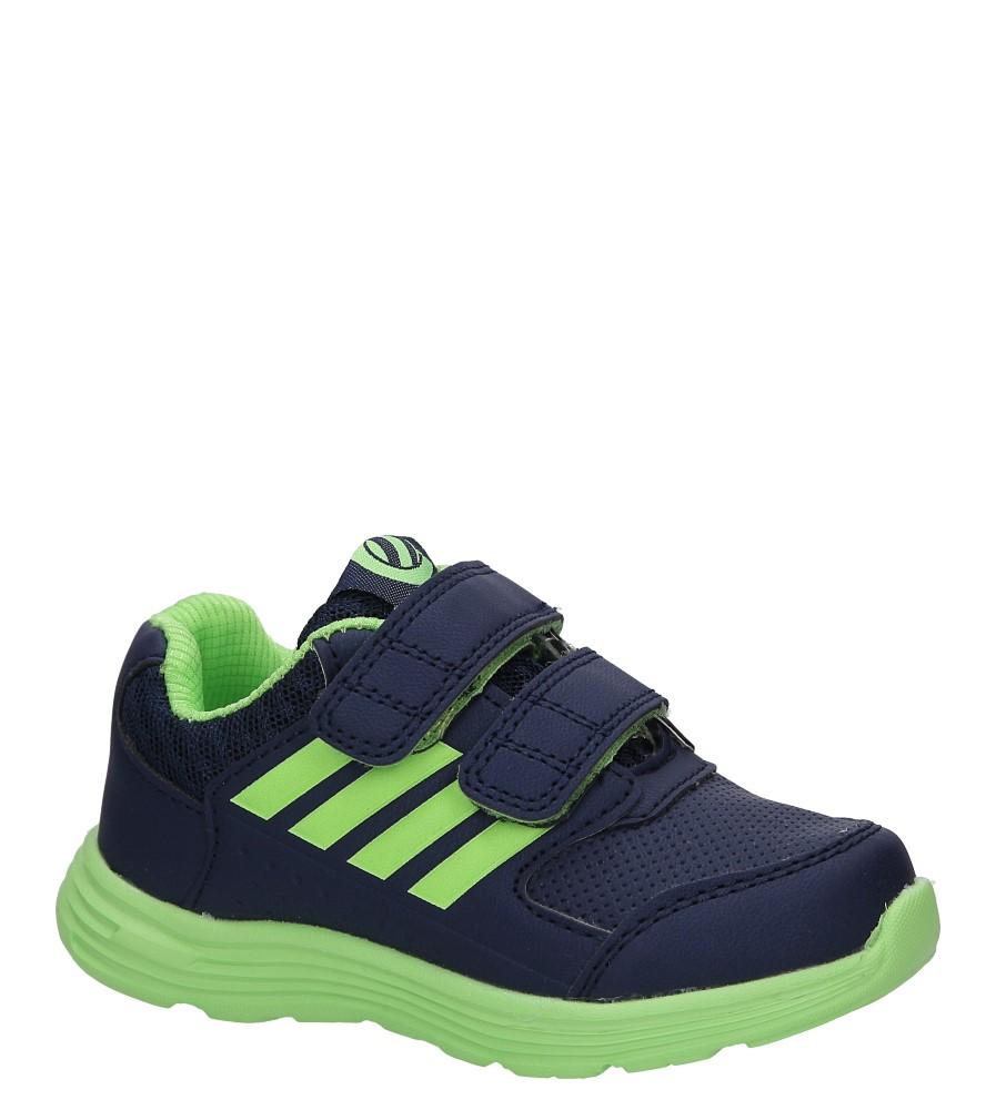 Granatowe buty sportowe na rzepy Casu F-683