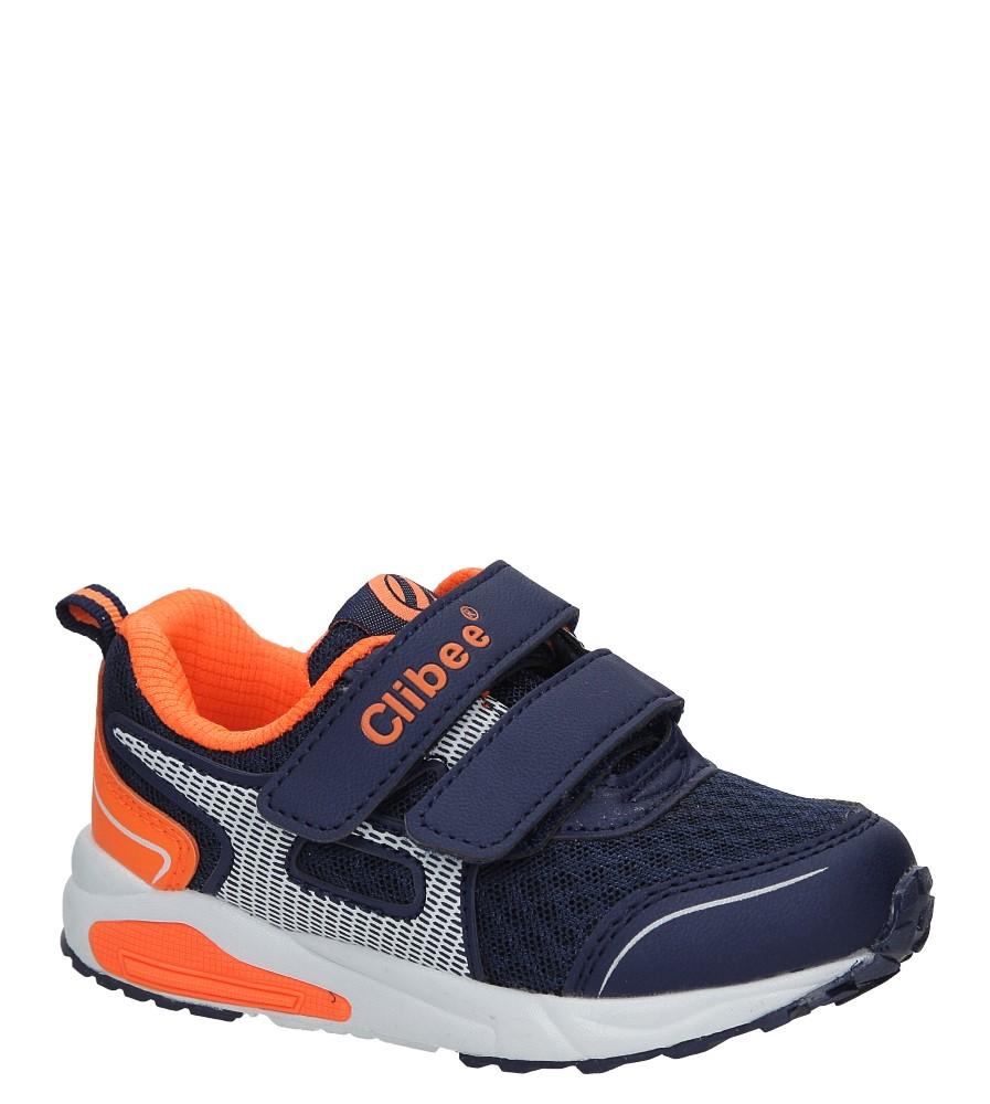 Granatowe buty sportowe na rzepy Casu F-691 producent Casu