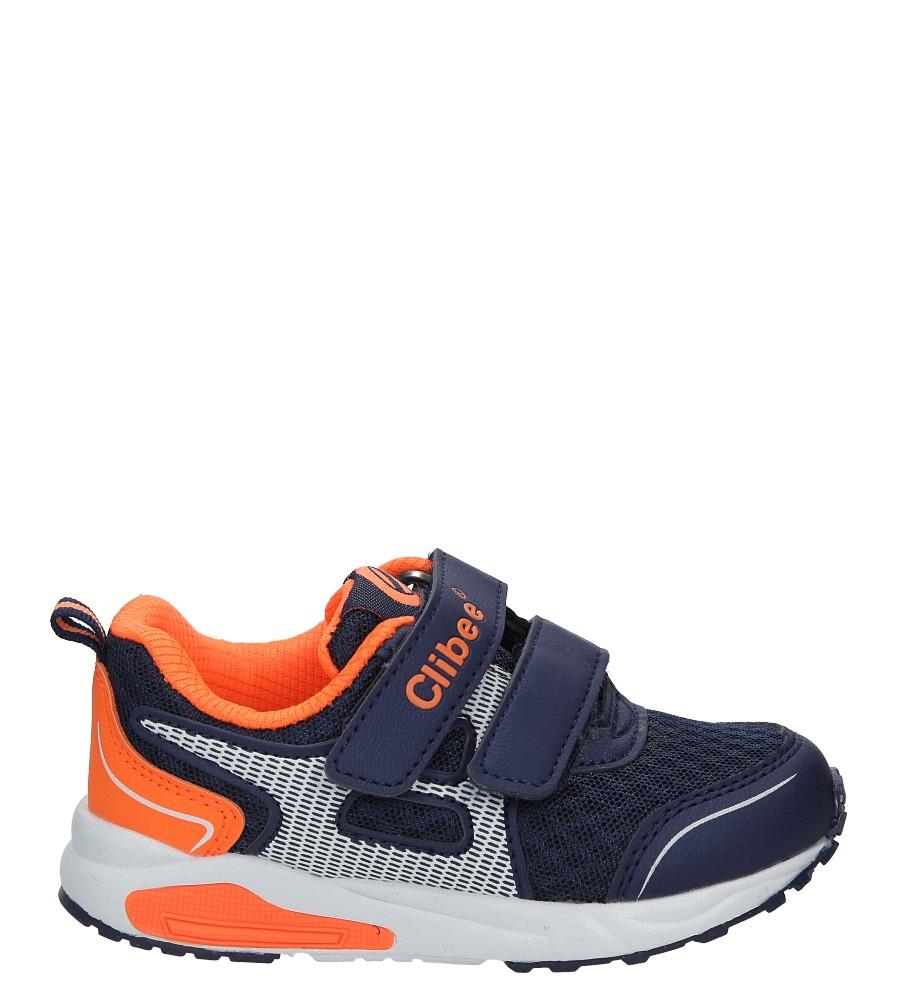 Granatowe buty sportowe na rzepy Casu F-691