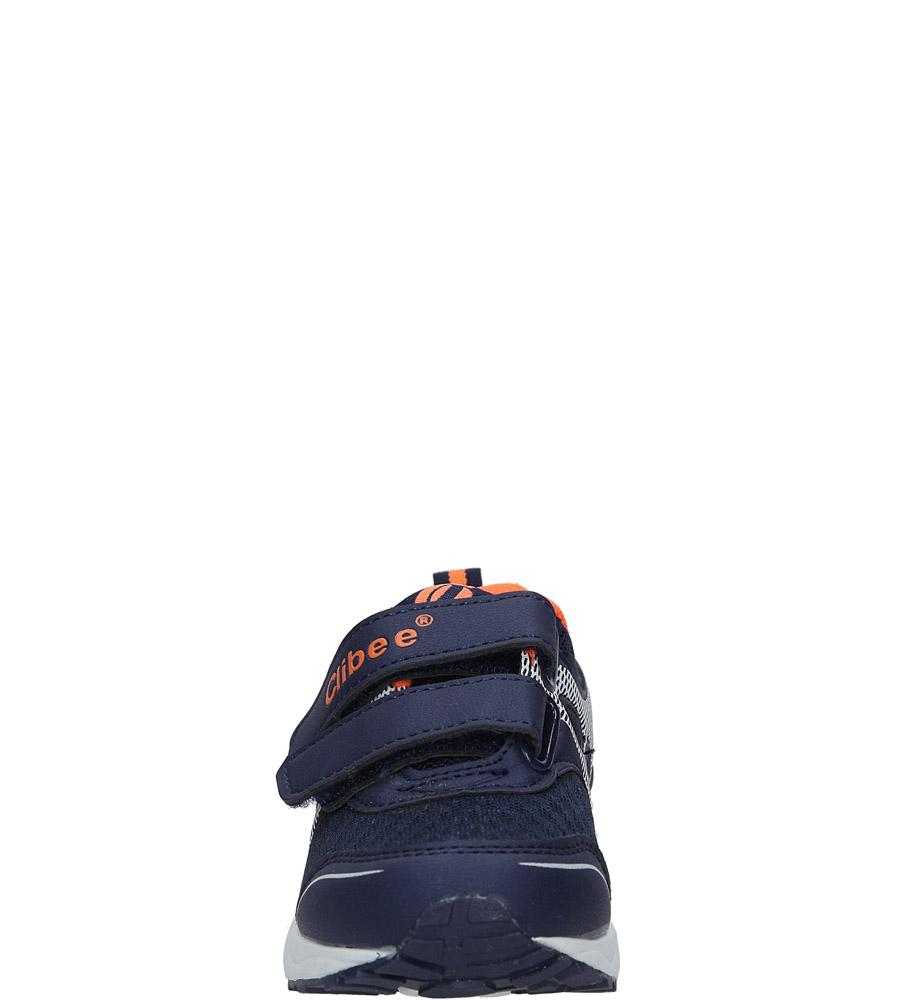 Granatowe buty sportowe na rzepy Casu F-691 sezon Całoroczny