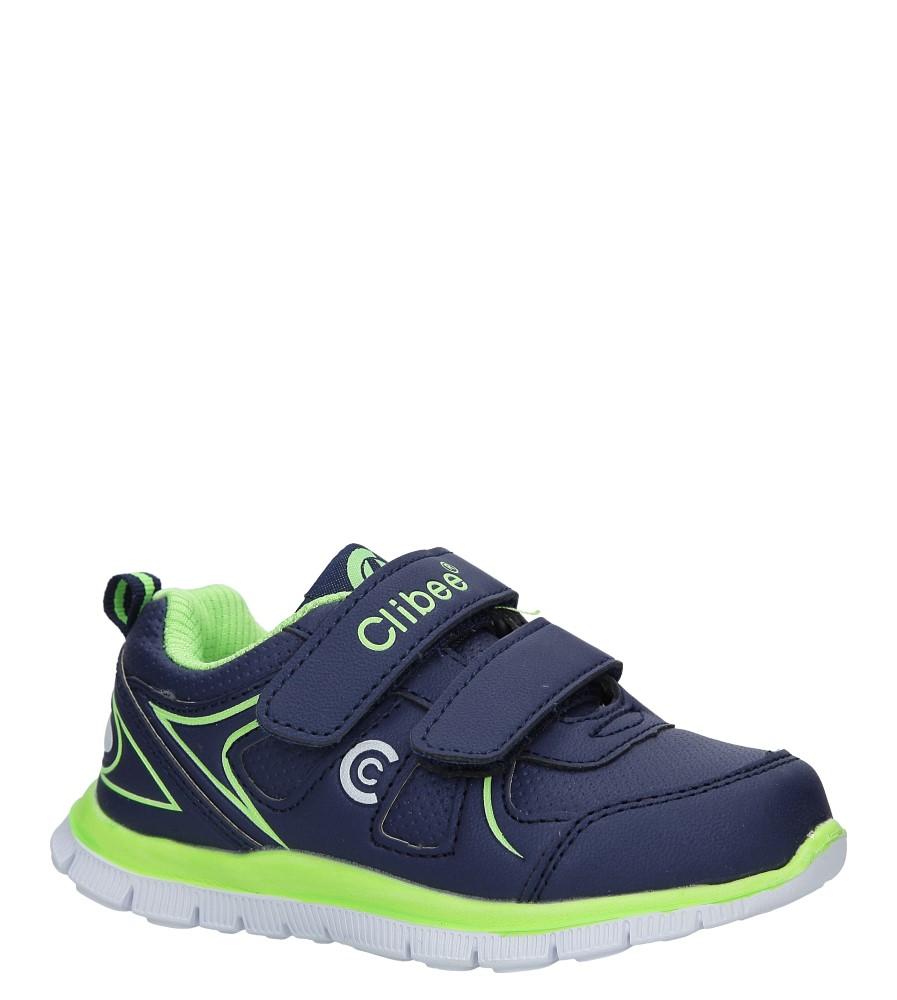 Granatowe buty sportowe na rzepy Casu F-706