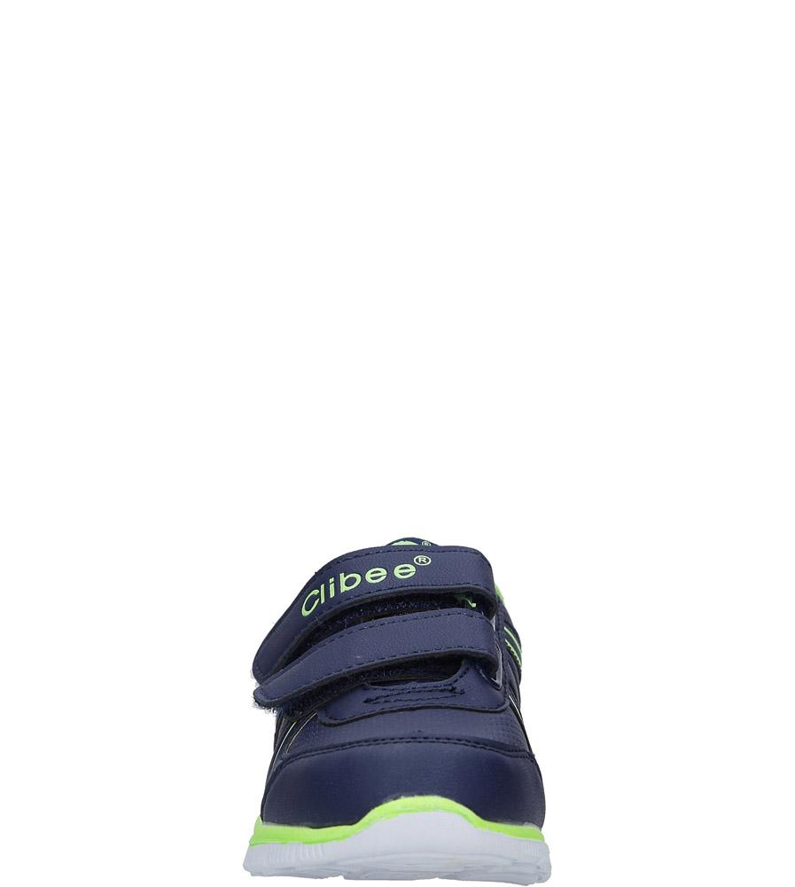 Granatowe buty sportowe na rzepy Casu F-706 sezon Całoroczny