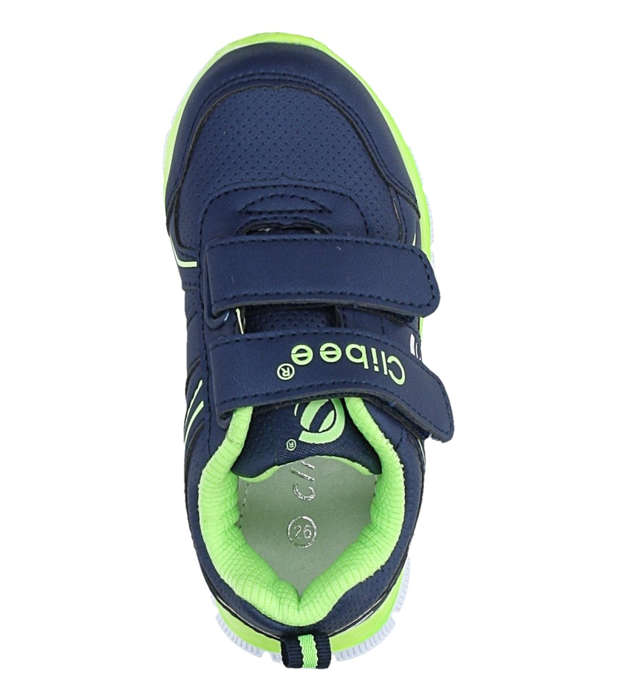 Granatowe buty sportowe na rzepy Casu F-706 wysokosc_platformy 1 cm
