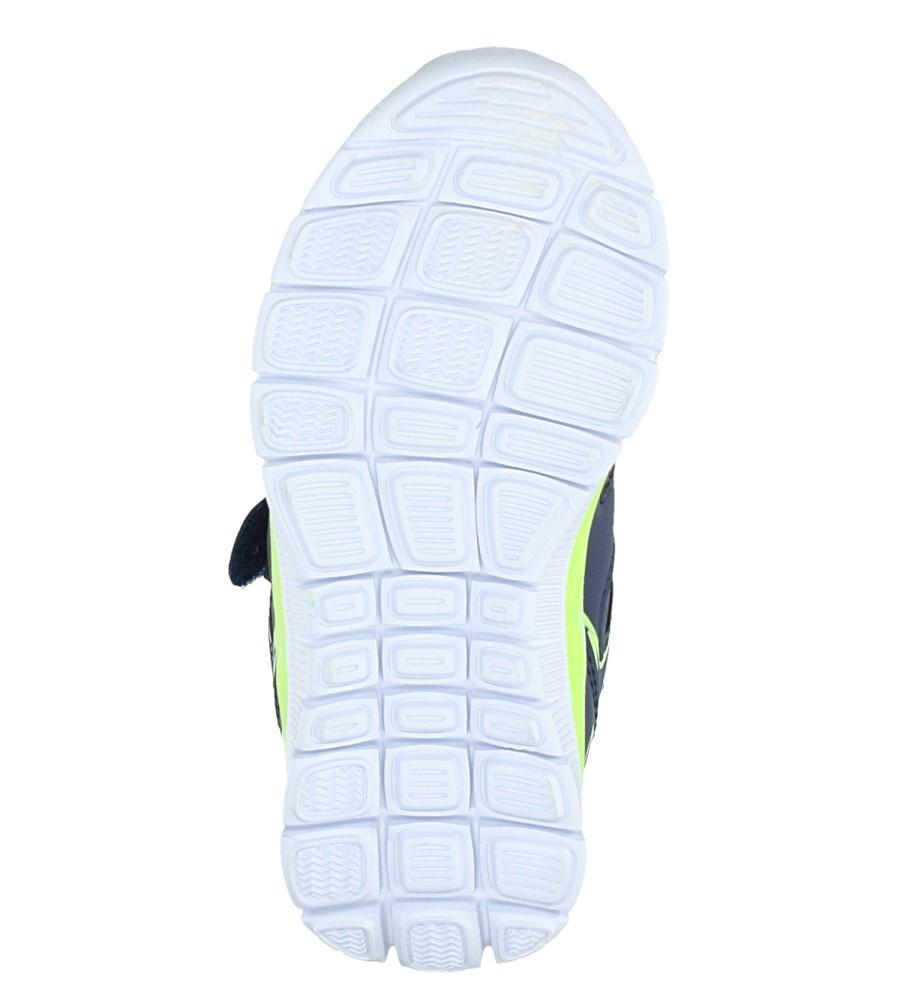 Granatowe buty sportowe na rzepy Casu F-706 wys_calkowita_buta 7 cm