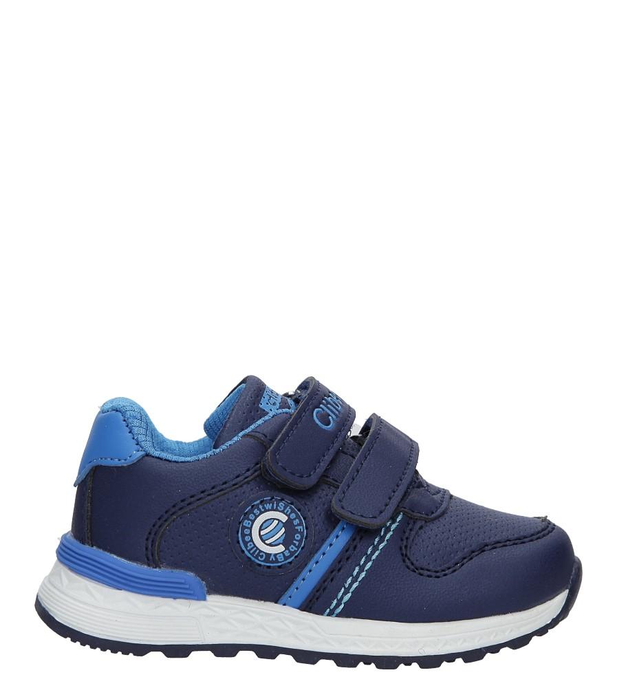 Granatowe buty sportowe na rzepy Casu F-709